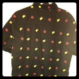 Men's Marvel button down shirt sleeve shirt